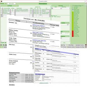 Dienstplan und Personalplanung