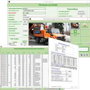 Verwaltung Fuhrpark und Kraftstoffmanagement