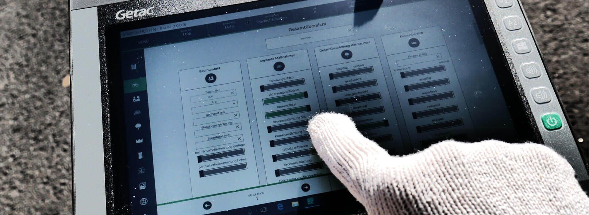 Mobile Datenerfassung mit dem DINOB-Tablet